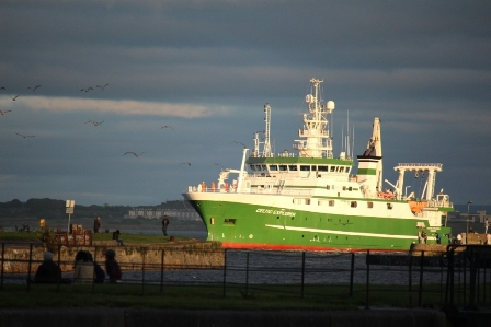 Celtic Explorer in Galway Bay