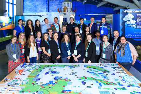 Experts, students and researchers participated in the Marine Spatial Planning Challenge Board Game at Galway Atlantaquaria. Photo: Andrew Downes, Xposure.