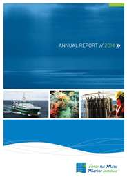Link to the Marine Institute's 2014 Annual Report in English (PDF)
