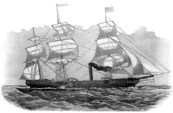 Flying Fox. Image credit: www.britannica.com/technology/ship/Commercial-steam-navigation