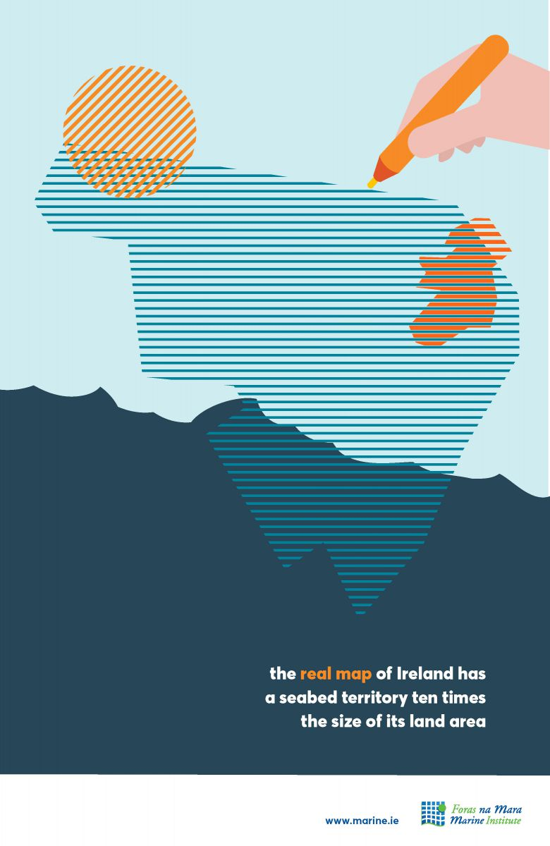 The Real Map of Ireland marine fact