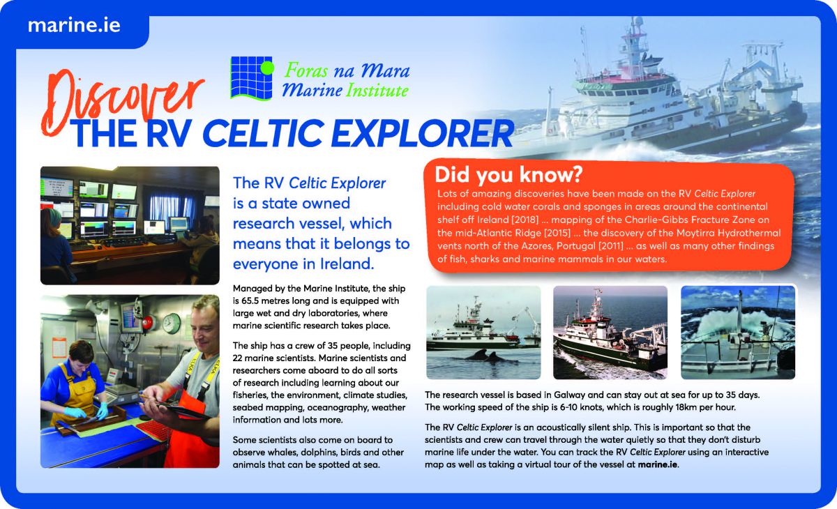 RV Celtic Explorer Infographic