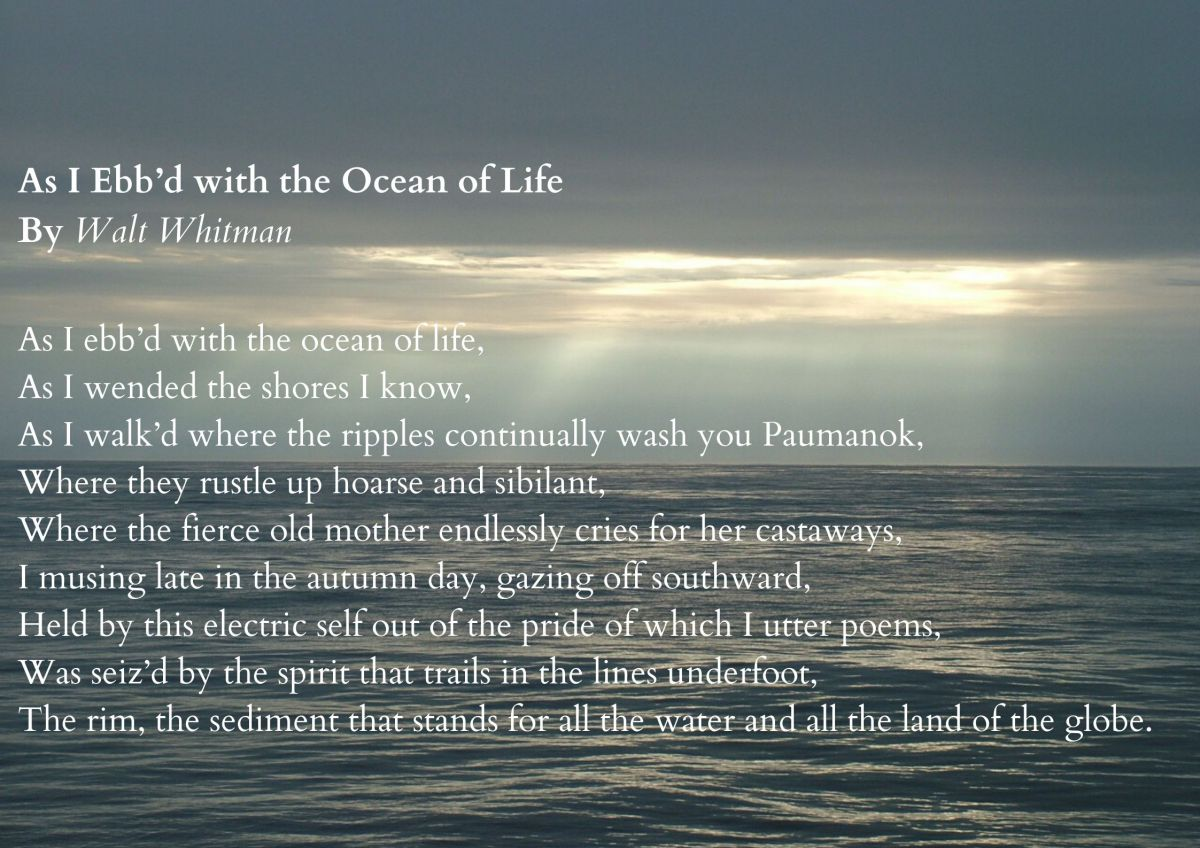 As I Ebb'd with the Oceanof Life by Walt Whitman