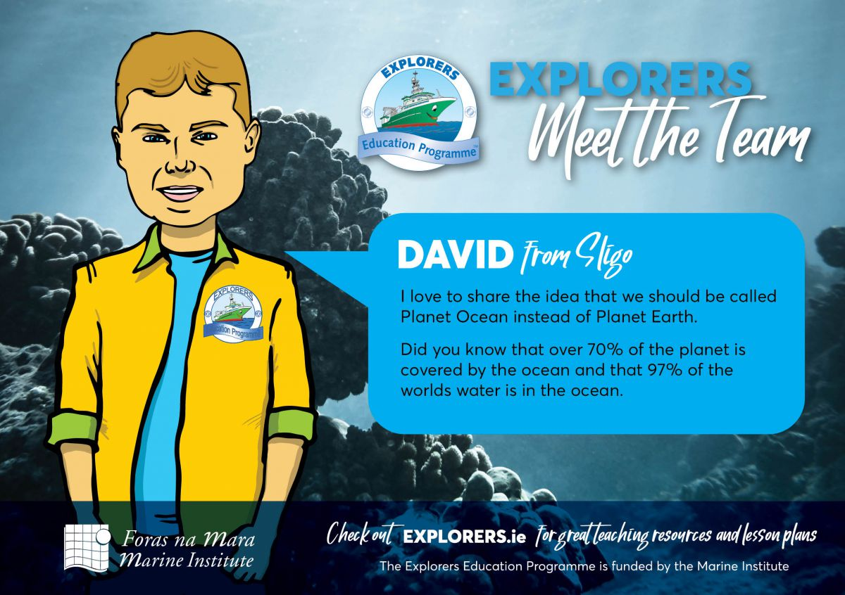 David - The Earth is One Big Ocean with many features