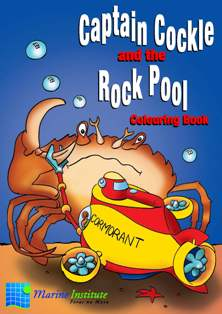 Picture of Captain Cockle and the Rock Pool Colouring Book.