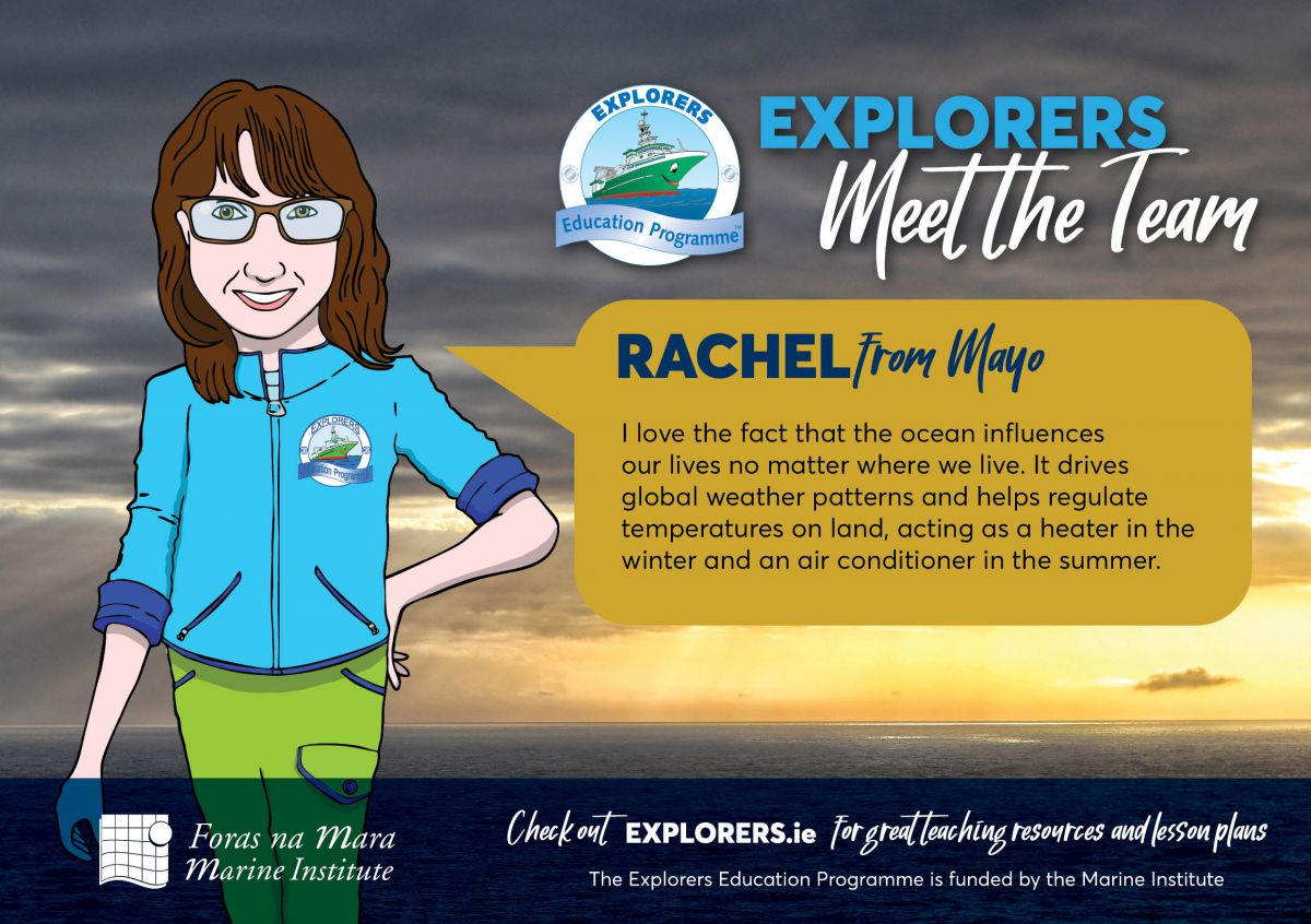 Rachel - The Ocean is a major influence on our weather and climate