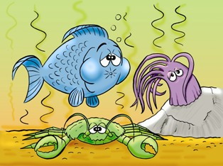 Illustration of Fish Tank Problem Solving and Trouble Shooting.