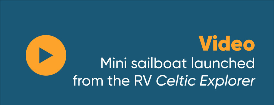 Video: Mini sailboat launched from the RV Celtic Explorer
