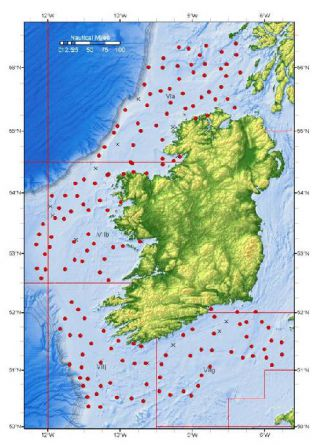 Station Positions Carried out During a recent Irish Groundfish Survey