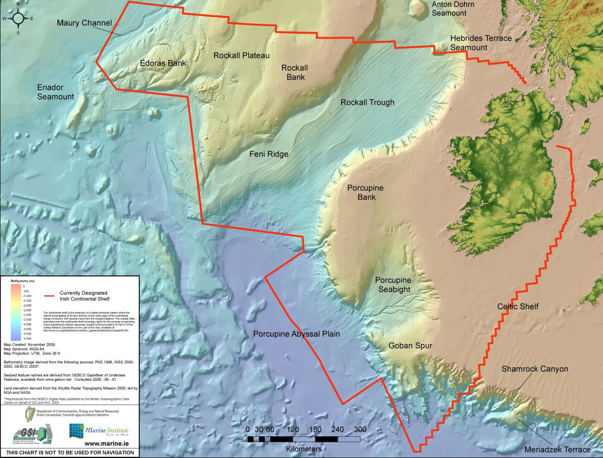 Map Of Ireland Ireland.The Real Map Of Ireland Marine Institute