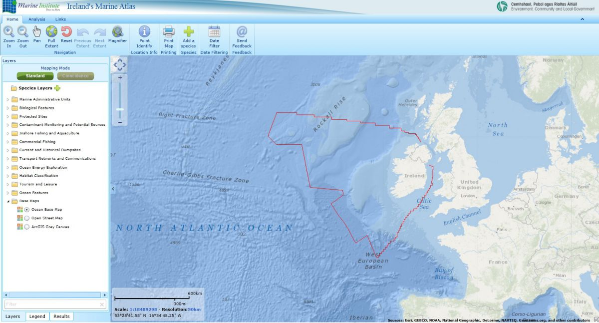 Link to Ireland's Marine Atlas
