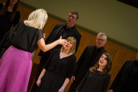 Marine Institute Singers conducted by Carmel Dooley,  performing in the National Concert Hall, Dublin last September.
