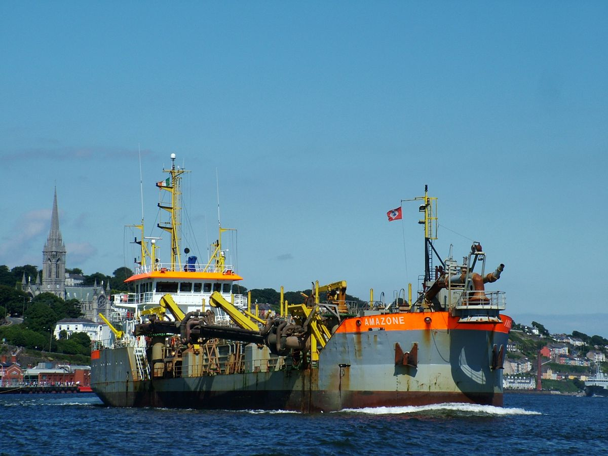 Dredger in Cork Harbour. Photo courtesy of Port of Cork