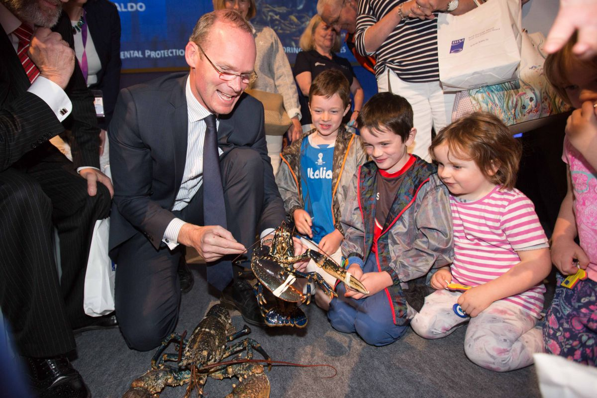 Minister for Agriculture, Food, the Marine and Defence, Simon Coveney T.D. announced the first national celebration of Ireland's oceans, SeaFest.