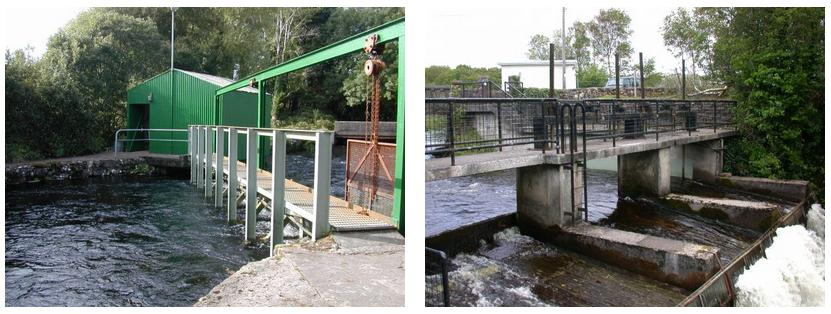 Mill Race Upstream Trap and Salmon Leap Trap.