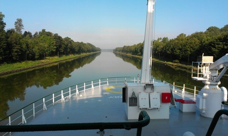 Celtic Explorer's Passage through the Kiel Canal
