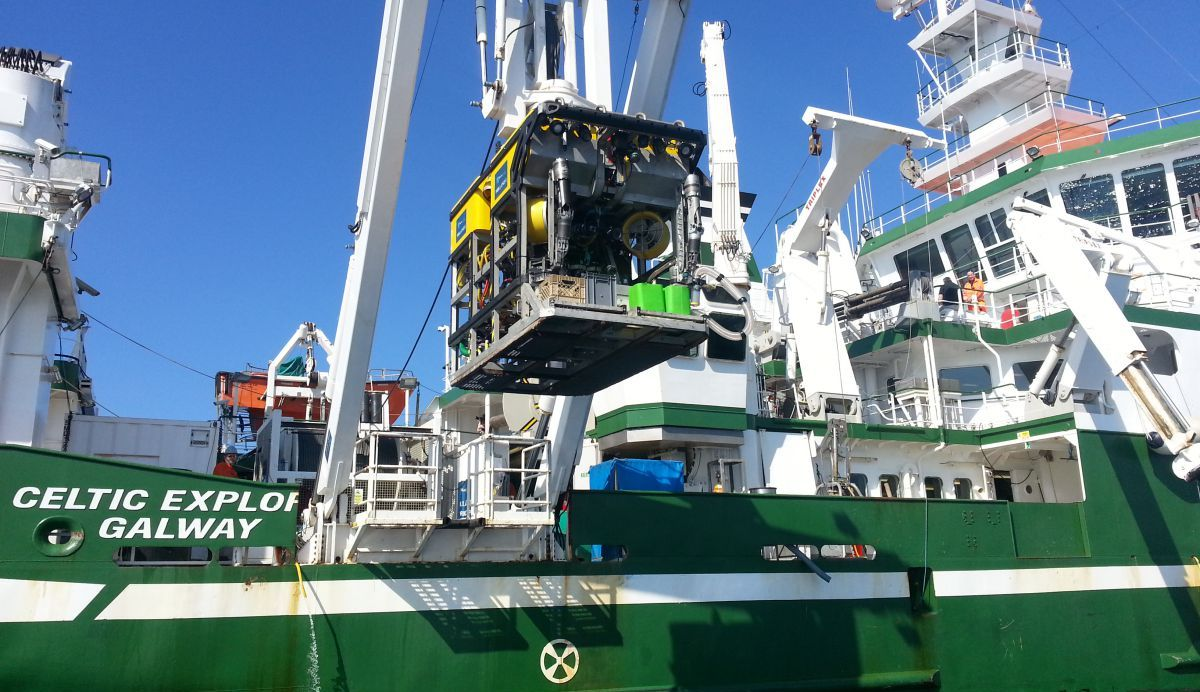 ROV Holland Launching from Celtic Explorer.