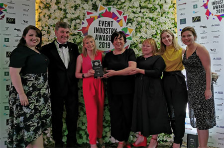Members of the SeaFest 2018 team with the award for Best Cultural Event.