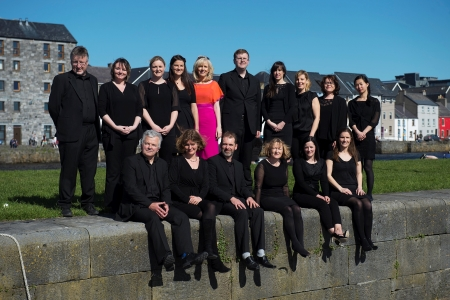 Marine Institute Singers pictured with their conductor, Carmel Dooley