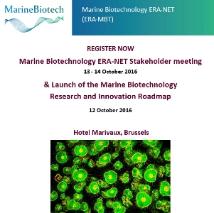 Registration is open for the Stakeholder meeting & Launch of the Marine Biotechnology Research and Innovation Roadmap