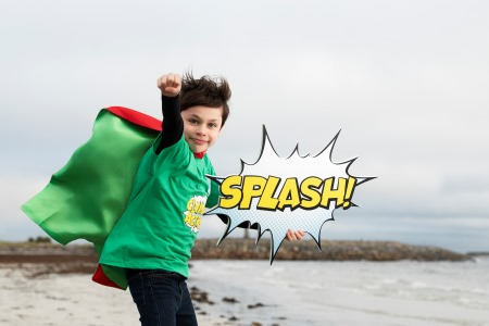 MacDara Flavin (9) from Scoíl Shéamais Naofa, Barna, Galway launches Explorers Pop art and Creative writing competition open to all national primary schools to create a super hero that saves the ocean from climate change.  See explorers.ie.  Funded by the Marine Institute and supported by the Camden Education Trust, and Galway Education Centre. Photography: Andrew Downes – Xposure