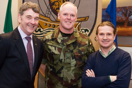 Dr Peter Heffernan CEO Marine Institute, Commandant Shane Fahy Department of Defence, Johnny Donnelly Arcana Managing Director