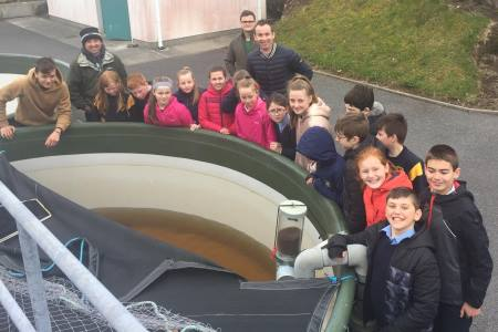 Snugboro NS at the smolts tank