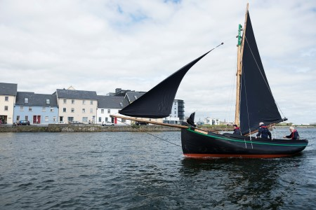 The famous Galway Hookers sail into Galway during SeaFest 2016. Photo Andrew Downes, Xposure.
