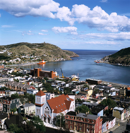 Aerial view of Downtown St Johns. Ocean Frontier 2018, North Atlantic Opportunities Conference