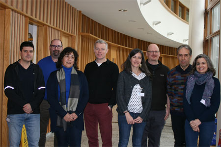 Attendees at the ICES WKSHAKS Workshop in the Marine Institute, Oranmore, Co. Galway.