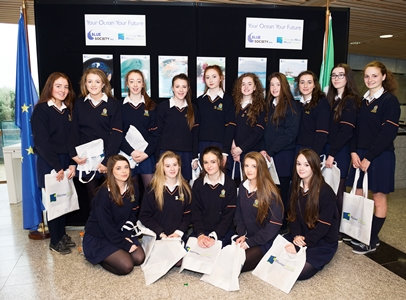 Enjoying the Sea for Society Stand and Marine Institute careers stands were pupils from St Mary's Ballina. Photo:Andrew Downes, xposure.
