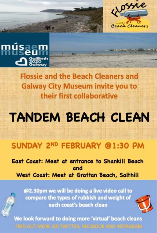 West and East Coast of Ireland to take part in tandem Beach Clean Up Challenge