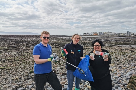 Lots of treasures and oddities found on Grattan Beach in Galway by Padraic Creedon and Anna Quinn (Galway Atlantaquaria) and Cushla Dromgool-Regan (The Camden Education Trust) who represented the Explorers Education Programme, as part of the EMSEA-Atlantic network on World Cleanup Day.