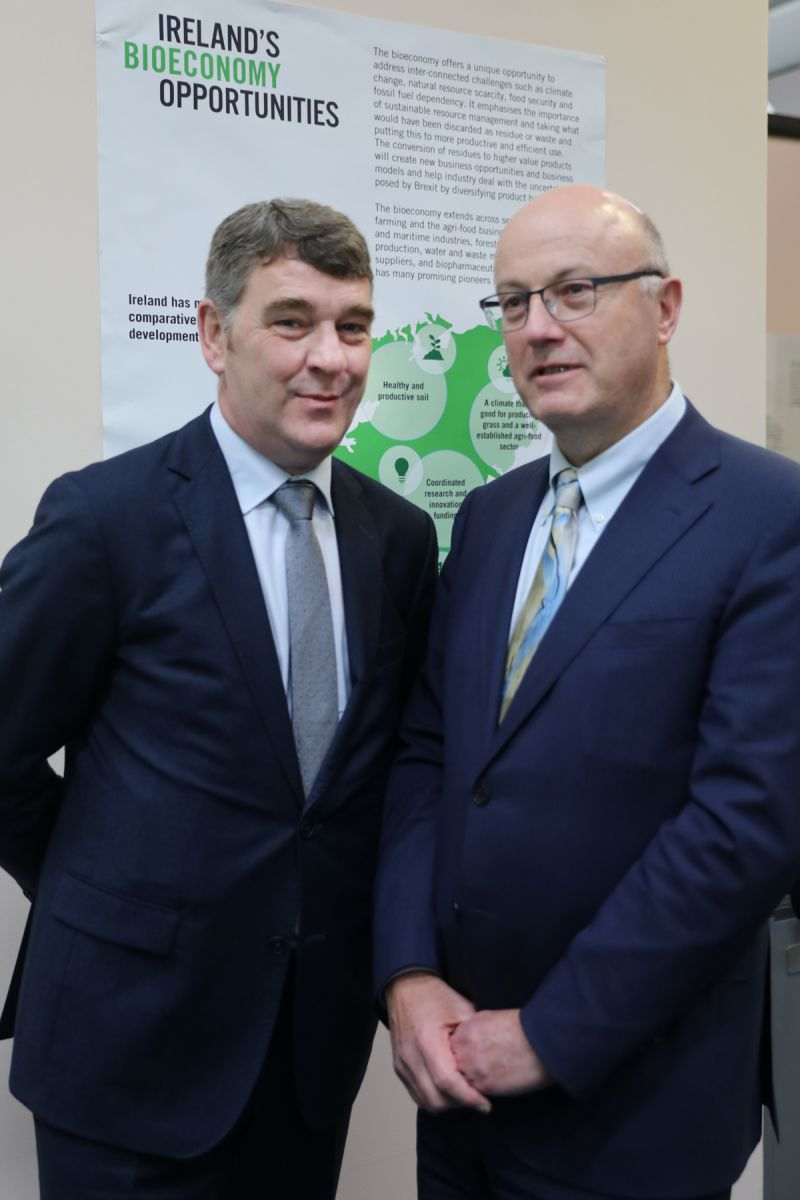 Dr Peter Heffernan Chief Executive of the Marine Institute and Professor Mark Ferguson, Director General of Science Foundation Ireland and Chief Scientific Adviser to the Government of Ireland at the launch of the Blue Bioeconomy Cofund (BlueBio).