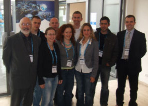 The Irish Delegation to BioMarine 2008     Left to Right Front Row:  Geoffrey O'Sullivan, Fionnula McBreen,  Gwendolin Porst, Myriam Callier, Julien Chopelet, Niall McDonagh.    Back Row:   Maxim Kozachenko, Ciaran Peyton, Michael Haverty