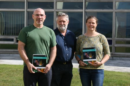 Dr Jack D'Arcy, Dr David Jackson (Marine Institute) and Majbritt Bolton-Warberg (NUI Galway)