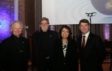 (L-R): Dr Brendan O'Connor, Director Cois Cladaigh, Professor John Delaney of the University of Washington, Maria Damanaki, EU Commissioner for Maritime Affairs and Fisheries, and Dr Peter Heffernan, Chief Executive of the Marine Institute