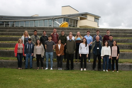 Third-level students join the Marine Institute for Summer Bursary Programme