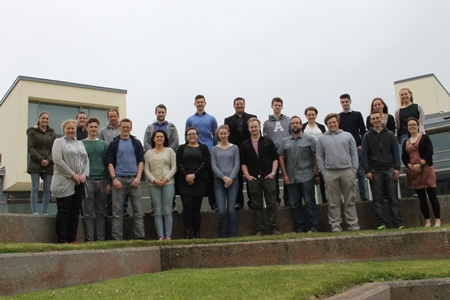 2015 Bursary students meet for Induction day training at the Marine Institute, Oranmore