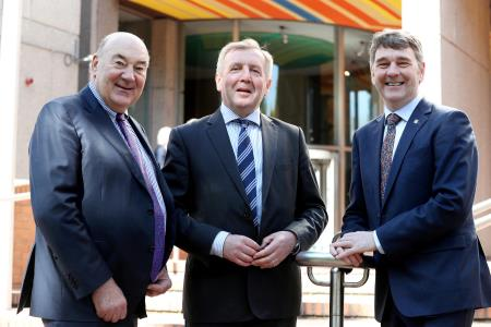 Dr John Killeen Marine Institute Chairman, Minister Creed and Dr Peter Heffernan CEO Marine Institute. Photo Jason Clarke