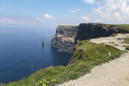 The Cliffs of Moher are amongst the most impressive coastlines in the world, and one of Ireland's top tourist attractions, drawing almost one million visitors every year.