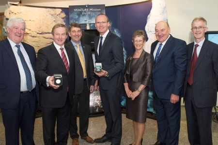 Holland coin been presented to Taoiseach Enda Kenny and Minister Simon Coveney by the Marine Institute Board