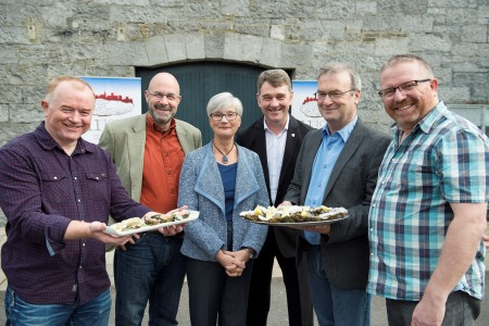 The Marine Institute brings together over 200 international delegates who are attending the 11th International Conference on Molluscan Shellfish Safety conference at NUI,Galway at the event was David Lyons, Food Safety Authority of Ireland, Jeff Fisher Marine Institute Dorothy-Jean McCoubrey, University of Auckland , Dr Peter Heffernan Marine Institute, Terrance O'Carroll, BIM and Joe Silke, Section Manager of Shellfish Safety at Marine Institute. Photo:Andrew Downes, xposure