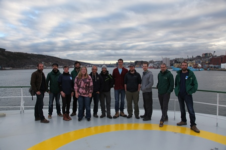 TRASNA crew onboard the RV Celtic Explorer