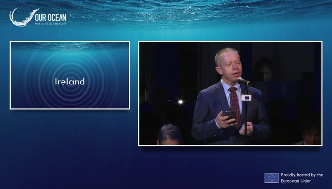 Marine Institute welcomes Minister Cannon's commitments of €6 million in funding for Seabed Mapping and Marine Research announced at the Our Ocean conference in Malta
