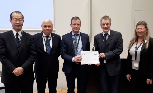 Data award was presented to the Institute at the IODE Session XXV in Tokyo