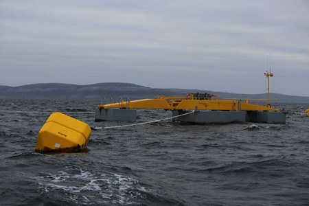 Seapower platform testing at Galway Bay wave energy test site.Photo credit Aengus McMahon