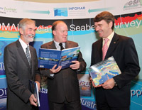 L to R: Dr, Paedar McArdle, Director GSI, Mr. Conor Lenihan, T.D. Minister of State at the Department of Communications, Energy and Natural Resources and Dr. Peter Heffernan, Chief Executive of the Marine Institute at the launch of the new atlas.Photo:Maxwell Photography