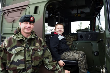 Sgt George Foley and Cillian Scanlon from Milltown at SeaFest 2017. The Defence Forces are back in force for SeaFest 2018 in Galway from 29th June to 1st July. Photo: Andrew Downes, xposure.