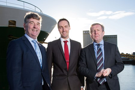 Dr Gerard McCarthy with Dr Peter Heffernan and Minister Michael Creed. Picture Credit Darragh Kane.